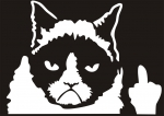 Наклейка на машину Грустный кот