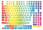 Наклейки на клавиатуру Радуга 2 только английская раскладка