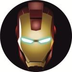 Наклейка эмблема Iron man (Железный человек)