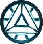Наклейка эмблема Iron man 2 (Железный человек)