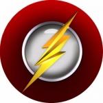 Наклейка эмблема Flash (Флеш)