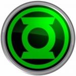 Наклейка эмблема Green Lantern (Зелёный фонарь)