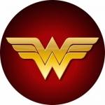 Наклейка эмблема Wonder woman (Чудо женщина)