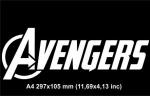 Надпись Мстители  / Avengers