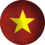Наклейка Флаг Вьетнам