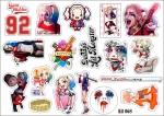 Лист с наклейками  Harley Quinn (Харли Квинн)