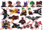 Лист с наклейками Лего Бэтмен