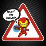 Ребёнок в машине Железный человек