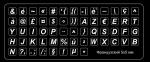Белые мини наклейки на клавиатуру с французским языком